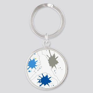 Looper white Round Keychain