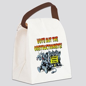Vote out the Obstructionists! Canvas Lunch Bag