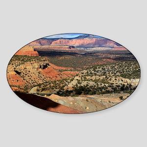 Burr Trail Canyon Sticker (Oval)