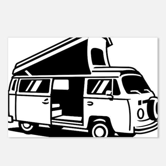 Family Camper Van Postcards (Package of 8)