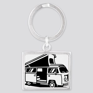 Family Camper Van Landscape Keychain