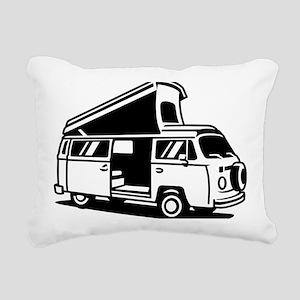 Family Camper Van Rectangular Canvas Pillow