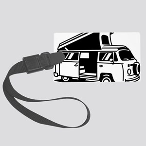 Family Camper Van Large Luggage Tag