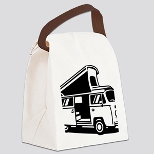 Family Camper Van Canvas Lunch Bag