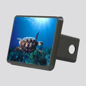 A turtle in the sun Rectangular Hitch Cover