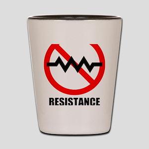 Resistance is Futile Shot Glass