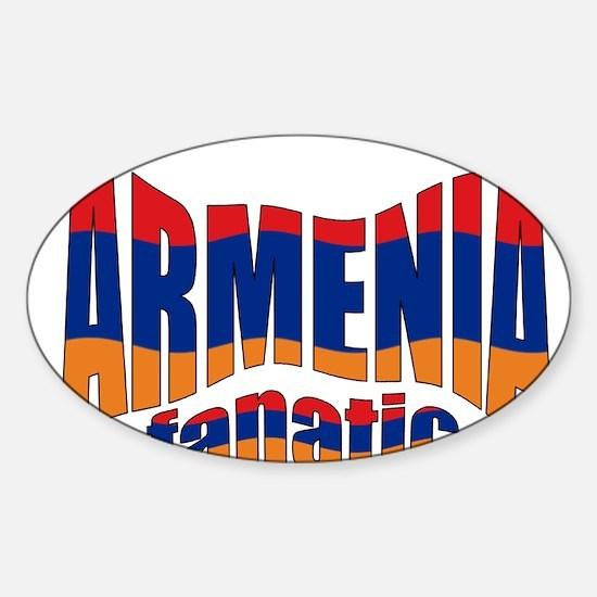The Armenian flag fanatic Oval Decal