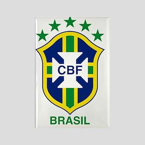 brazil soccer logo Rectangle Magnet