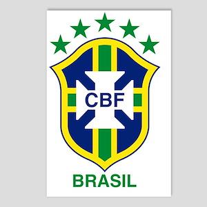 brazil soccer logo Postcards (Package of 8)