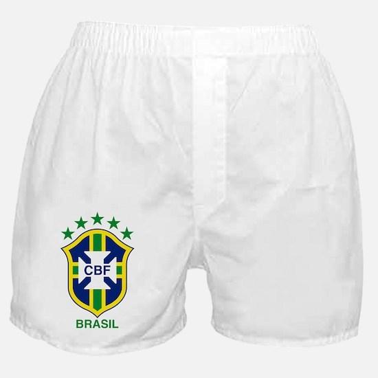 brazil soccer logo Boxer Shorts