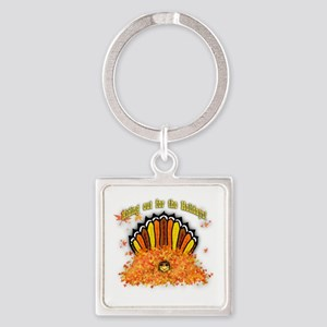 Hiding out Turkey Square Keychain