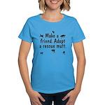 Adopt a Mutt Women's Dark T-Shirt