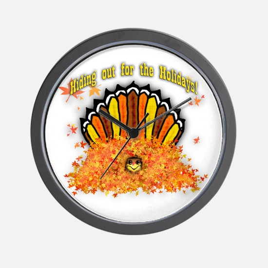 Hiding out Turkey Wall Clock