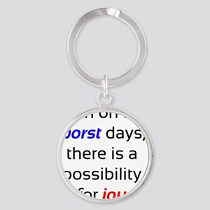 Possibility For Joy Round Keychain