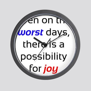 Possibility For Joy Wall Clock