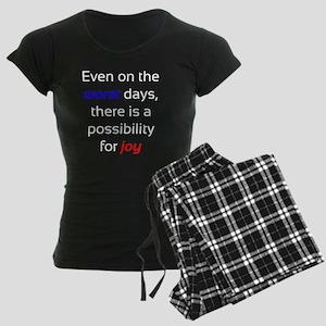 Possibility For Joy Women's Dark Pajamas