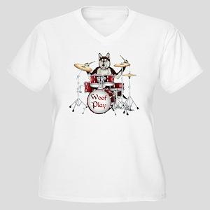 Banging Pawl Women's Plus Size V-Neck T-Shirt