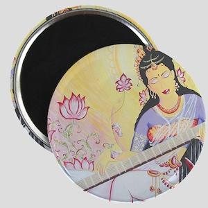Meditative Sarasvati music Magnet