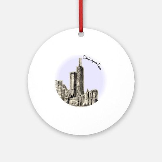 Chicago Fan Round Ornament