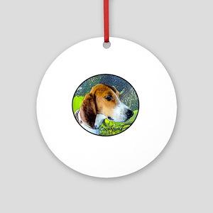 Coonhound II Round Ornament