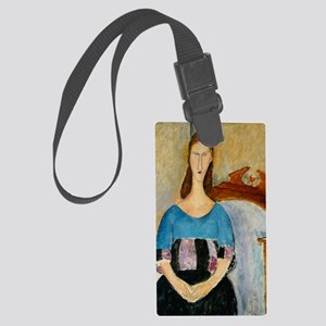 greeting_card_jeanne Large Luggage Tag