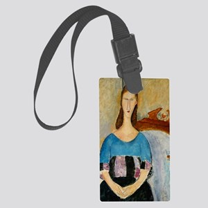 note_card_jeanne Large Luggage Tag