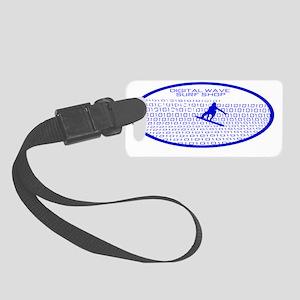 barrelwaveshorewsurferbgothicblu Small Luggage Tag