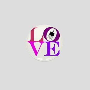 Afro Love Mini Button