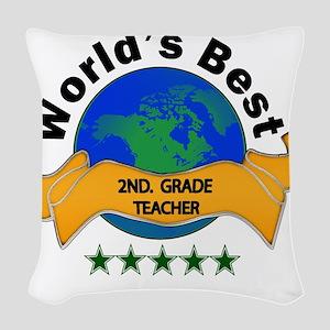 2nd. grade teacher Woven Throw Pillow