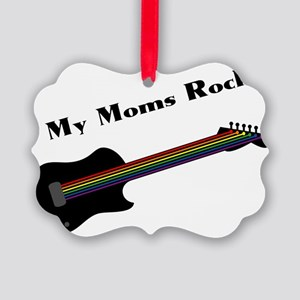 My Moms Rock Picture Ornament
