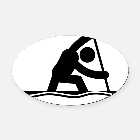 Canoe-Sprint-A Oval Car Magnet