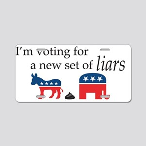 New Set of Liars Aluminum License Plate