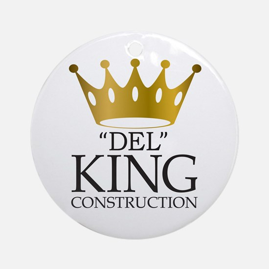 Del King Construction from Multipli Round Ornament