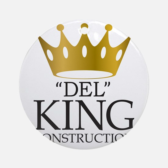 """Del King Construction from """"Multipl Round Ornament"""
