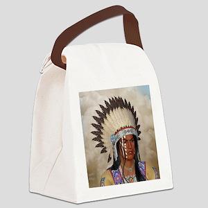 Indian Portrait Canvas Lunch Bag