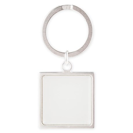 Curling-B Square Keychain
