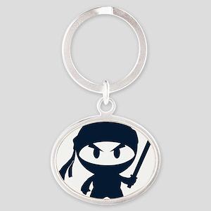 Angry ninja Oval Keychain