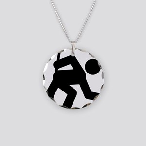 Curling-A Necklace Circle Charm