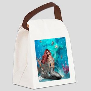 Magic Mermaid Canvas Lunch Bag