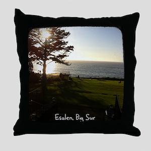 Front lawn at Esalen, Big Sur Throw Pillow