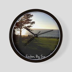 Front lawn at Esalen, Big Sur Wall Clock