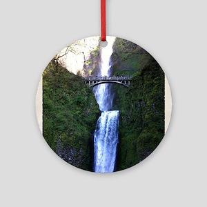 Multnomah falls, OR Round Ornament