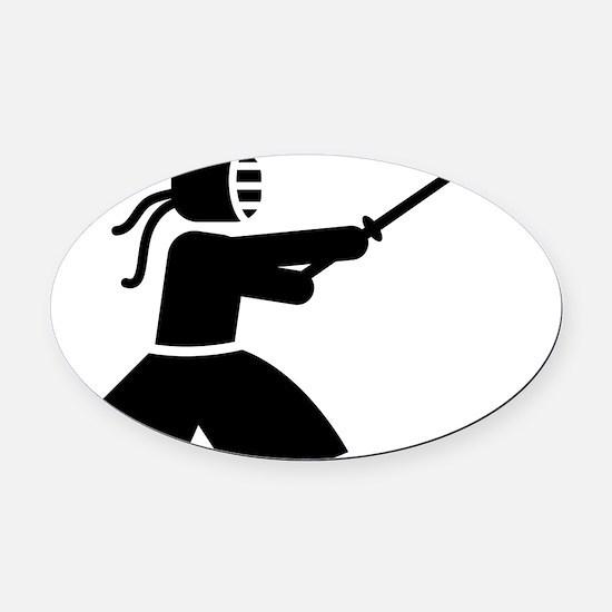 Kendo-A Oval Car Magnet