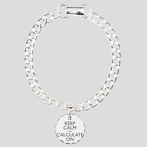 Keep Calm and Calculate  Charm Bracelet, One Charm