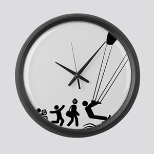 Kiteboarding-E Large Wall Clock