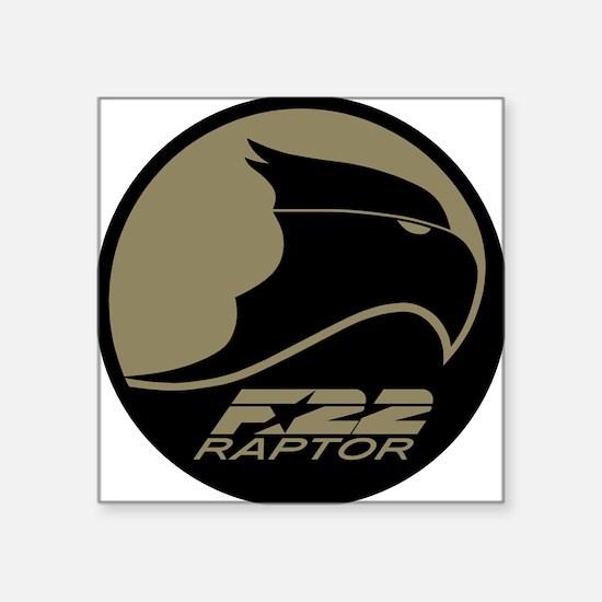 """F-22 Raptor Square Sticker 3"""" x 3"""""""
