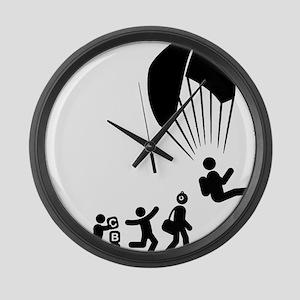 Paragliding-E Large Wall Clock