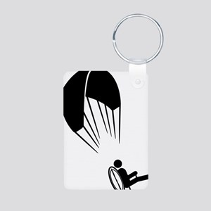 Paramotoring-A Aluminum Photo Keychain