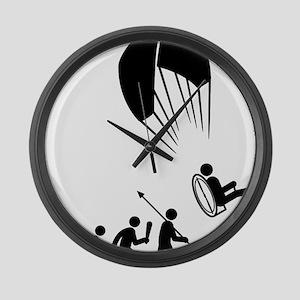 Paramotoring-C Large Wall Clock