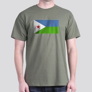 Djibouti flag Dark T-Shirt